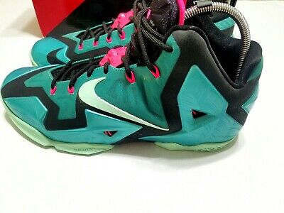 promo code 4b433 bb3d9 DS Nike LeBron XI 11 South Beach size 13 616175-330. Turquoise Mint.