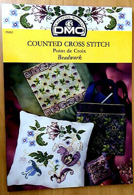 DMC Counted Cross Stitch Pattern Book Booklet - P5092 Beadwork