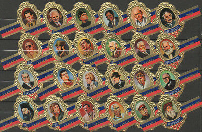 24 cigar bands Capote Tabacos Personajes Personen Series B with Peak  iss in