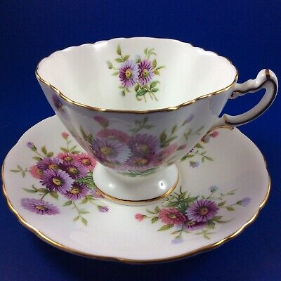 Hammersley Aster Bouquet Bone China Tea Cup And Saucer