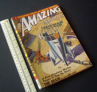 Amazing Stories USA SF Digest Mag 1948 Vintage V22 #10. Spaceship Construction