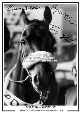 80.  red rum brian fletcher ginger mcCain tommy stack signed photo