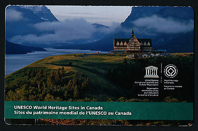 Canada 2849a Booklet MNH UNESCO World Heritage, Glacier, Waterton
