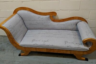 Antique Biedermeier,continental chaise longue. Original, new upholstery!!!