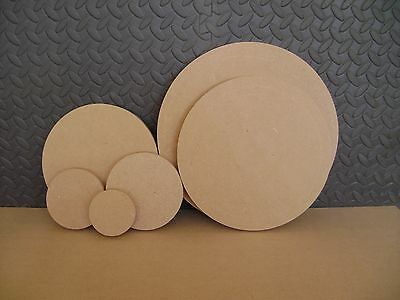 """Wooden MDF Circles sizes 4"""" 5"""" 6"""" 8"""" 10"""" 12""""  craft plaques signs plain 18mm"""
