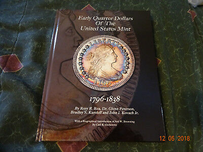 Early Quarter Dollars Of The U.S Mint 1796-1838 Hardcover Gift Free Shipping