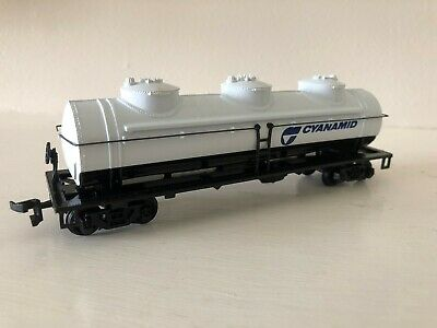 Other Ho Scale Ho Scale Cyanamid 3 Dome Tanker Car Model Railroads & Trains Useful Bachmann