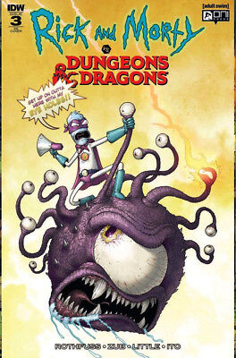 RICK & MORTY Vs DUNGEONS & DRAGONS #3 Vasquez Variant Cover 1st Print LTD to 500