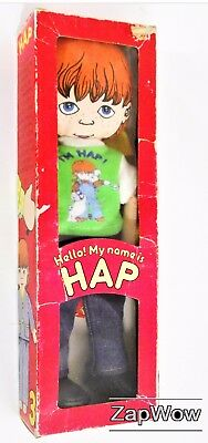 """HAP RAG DOLL 1979 Susan Perl Healthtex 12"""" Soft Toy Boxed Determined 1970s"""