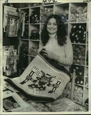Press Photo Helen Nobella, Owner of Textiles, Incorporated on Magazine