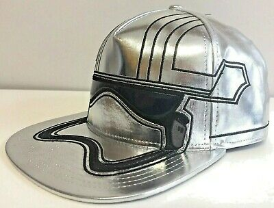 Star Wars Stormtrooper Phasma SnapBack Cap Hat Spencer's Shiny Silver