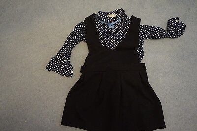 GIRLS NEXT  DRESS WITH  shirt SIZE 4YRS