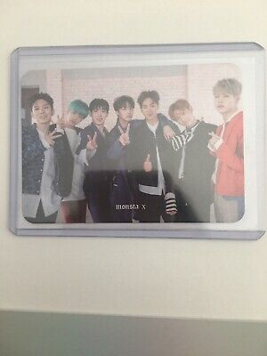 Monsta X Group Official Photocard Card Kpop K-pop US Seller With Toploader