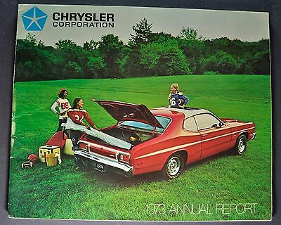 1974 Chrysler Annual Report Plymouth Dodge Imperial Brochure Excellent Original