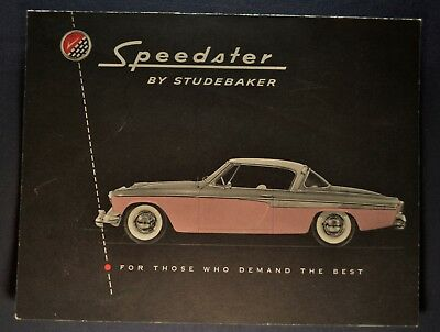 1955 Studebaker Speedster Sales Brochure Folder Excellent Original 55