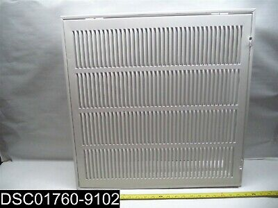 "253202 HD Supply 20x20"" White Return Air Filter Grille w/Adjustable Hinge Points"