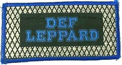 DEF LEPPARD - Old OG Vtg 70/80`s Glittered Woven Patch Sew On Heavy Metal NWOBHM
