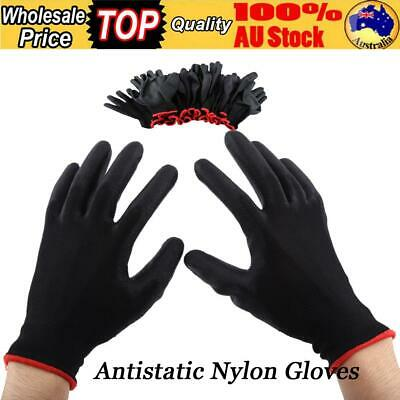 24Pcs Antistatic Nylon PU  Gloves Safety Work Mechanic Workers Garden Builder