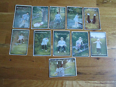 11 Antique Copyright 1910 Benj. Kress Humorous Penny Postcards
