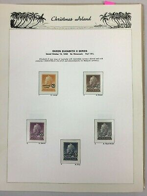 CMF5) Christmas Island 1958 – 1987 Complete mint unhinged collection