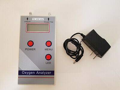 Oxygen Analyzer for measurement of O2 concentration, flow rate, pressure