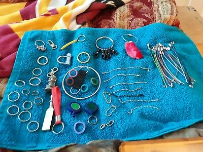 Miscellaneous Keychains, Keyrings, Split Rings, Rabbit Foot, Key I'd Covers