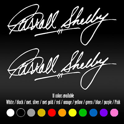 "8"" Carroll Shelby Signature Mustang GT AC Cobra Window Car Vinyl Decal sticker"