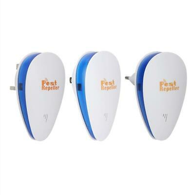 Electronic Ultrasonic Pest Reject Bug Mosquito Cockroach Mouse Repeller 90-250V