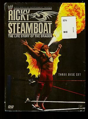 2010 Wwe Dvd 3 Disc Set Ricky Steamboat The Life Story Of The Dragon Sealed New