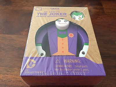 Lootcrate Exclusive The Joker Wooden Figure DC Collectibles New in Box