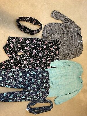 Girls Set of 2 Shirt Leggings and Scarf Outfits Size XXL Plus