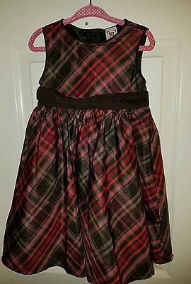 Baby Gap Toddler 2T Years Girls Brown/Pink/Red Plaid Sleeveless Dress