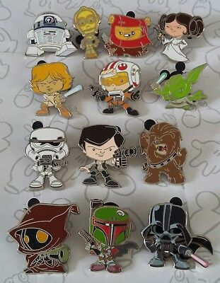 Cute Star Wars Stylized Characters Mystery Disney Trading Pin Make a Set Lot
