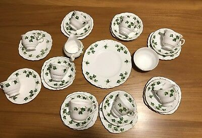 """Lovely Colclough """"Ivy Leaf"""" Pattern Bone China 28 Various Pieces Of Tea Set"""