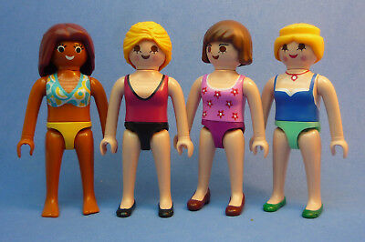 Playmobil J-9 Holiday 4x Women Figures Swimsuit Shopping Dollhouse