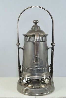 Antique Victorian c1885 Iced Water Pitcher & Drop Bowl & Stand ~ Arts & Crafts