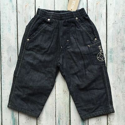 NWT - IKKS Lined Pull on Boys Jeans RRP $112.00 - Size 24M