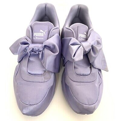 reputable site 8b1ef 85155 PUMA RIHANNA FENTY Purple Satin Bow Sneaker Shoe Nordstrom Authentic 8.5