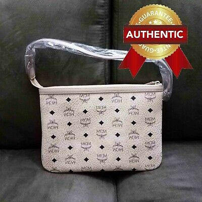 NEW Authentic MCM Pouch Clutch from reversible LIZ shopper in leather