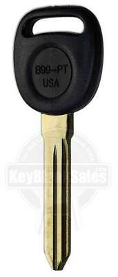 New Uncut Gm Cadillac Oldsm Pontiac Buick Transponder Chip Ignition Key B99-Pt