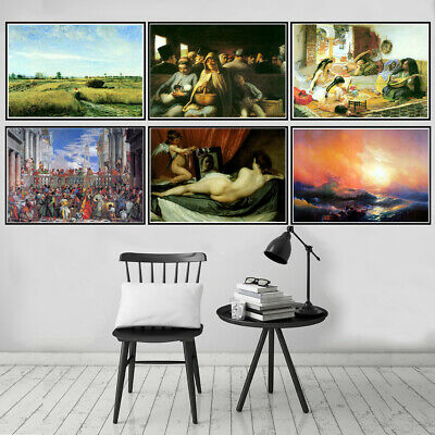 Classical Canvas Print Oil Painting Unframed Poster Wall Art Picture Home Decor