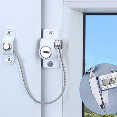 Window Door Guard Restrictor Baby Safety Security Cable Lock Catch Wire Rope CB