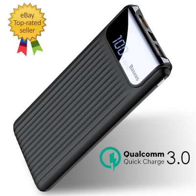 Power Bank Quick Charge 3.0 10000mAh Dual USB LCD Powerbank External Battery
