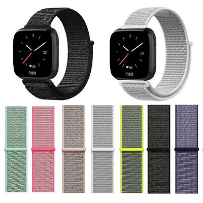 for Fitbit Versa Lite Smart Watch Soft Nylon Sport Loop Band Strap Wristbands
