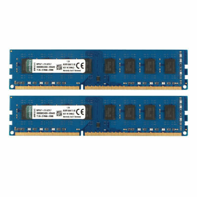 For Kingston 16GB 2X8GB PC3-12800U DDR3 1600MHZ DIM Memory  240pin BLUE RAM CL11