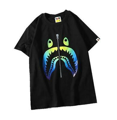 Personality Men's Japan Level Colorful Shark Jaw Short Sleeve Summer T-shirts