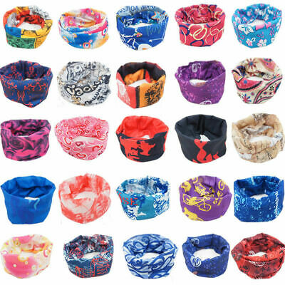 Motorbike Cycling Biker Ski Bandana Head Scarf Tube Face Mask Neck Warmer Snood