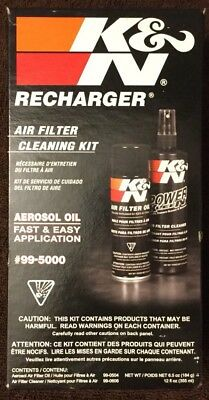 K&n 99-5000 Kn Air Filter Cleaning Care Service Kit W/ Oil Cleaner/recharger