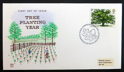 GB 1973 Tree FDC with Stampex Special Handstamp SEE BELOW NP476