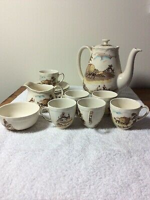 Alfred Meakin Coffee Set, antique, early 1900's, The Ride Home collector